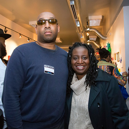 02/28/20 Wesley Bunnell | StaffrrTwenty five men were honored at Gallery 66 on Friday night for their involvement in the community as part of Black History Month. Honoree DL Blackburne, L, is shown