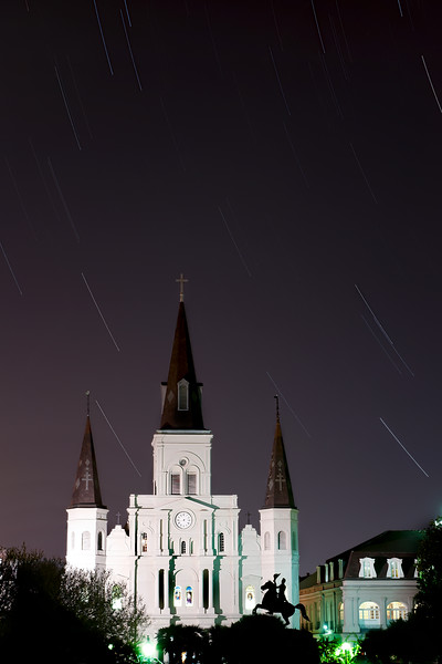 Jackson Square light trails