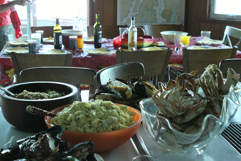 Crab, Mussel, Food Fest on Whidby Island, Washington