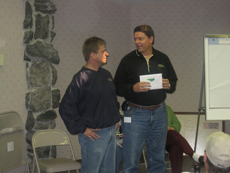 """Richard Broz getting his """"thanks"""" for nine years of service"""