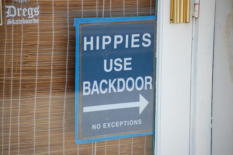 Even in Santa Cruz Hippies can't get a break