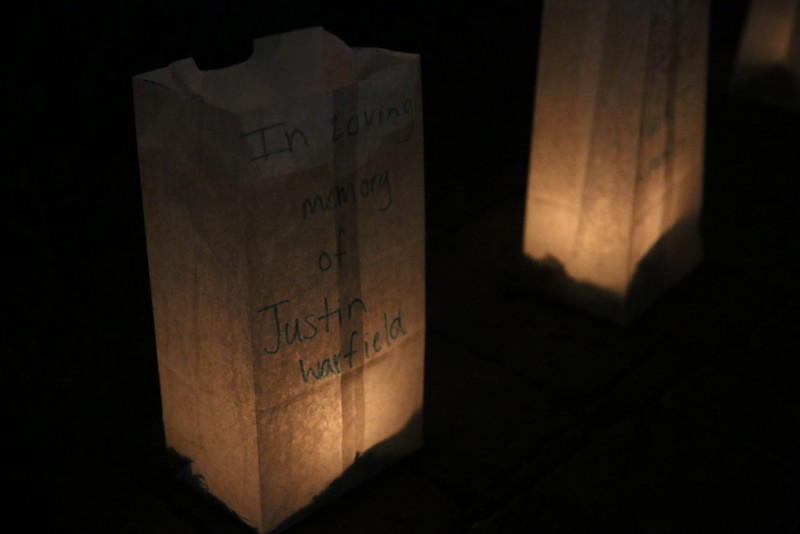 Luminary in memory of Justin Warfield.