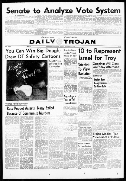 Daily Trojan, Vol. 48, No. 46, November 27, 1956