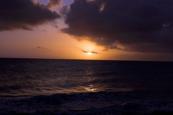 Sunset Near Red Slave Huts