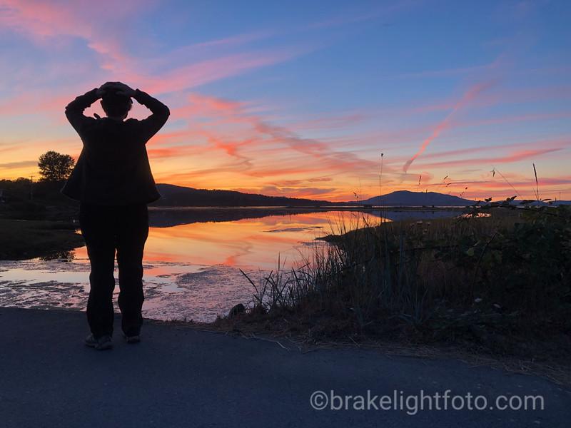 Sunset over Cordova Spit Lagoon