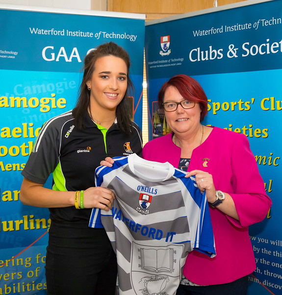 WIT holds event to honour 2016 All Ireland medal winning students. Pictured with the  President of the Camogie Association Catherine Neary is Denise Gaulle of the Kilkenny Senior Camogie Team. Picture: Patrick Browne  Waterford Institute of Technology's presence and influence across Gaelic Games at a national level in 2016 has been very noticeable. In total there are 32 past and present WIT students on the respective playing panels that won All Ireland medals in 2016 and a further 4 members on the backroom management teams.   To honour this huge achievement, WIT GAA Club is paying tribute to these 36 past members on securing these prestigious national titles on Monday 3 October, 6.30pm at the WIT Arena.   Along with the players, the prestigious cups, including the All Ireland Senior Hurling Cup- Liam McCarthy, the All Ireland Senior Camogie Cup- O'Duffy, The All Ireland Minor Cup and the All Ireland Under 21 Hurling Cup- James Nowlan, will be on show on the night.