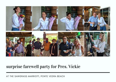 Vickie's Surprise Party & Passing The Gavel To Sam Hall