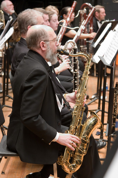Steve Haaser, tenor saxophone -- Hopkins Symphony Orchestra, March 2008