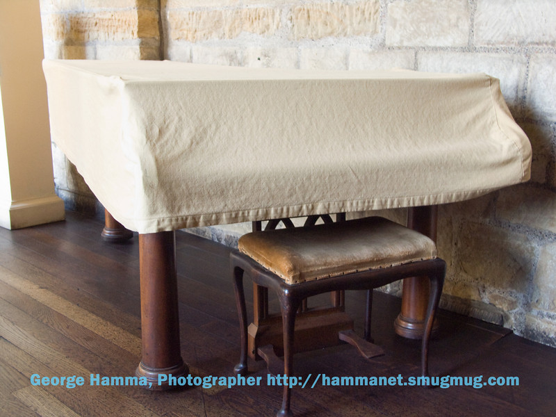 Durham Castle - Harpsicord in the gallery