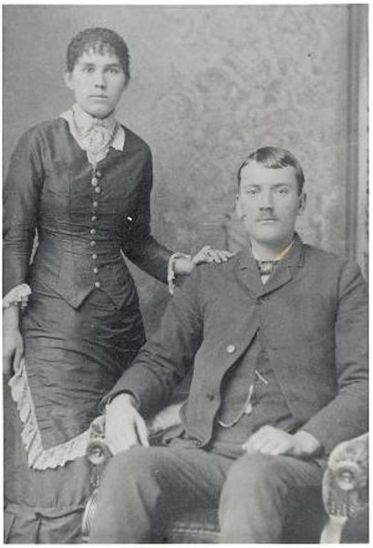 Wedding Photo of Mary Ellen Hunter and Alfred Wethern