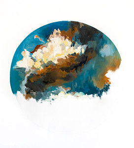 """Clouds I"" (oil on canvas) by Hayen Kim"
