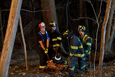 4-2-13 Rope Rescue Drill, Highland Drive