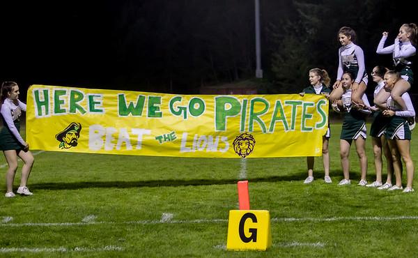 Set four: Vashon Island High School Fall Cheer banner run-through at Football v Concrete 09/15/2017