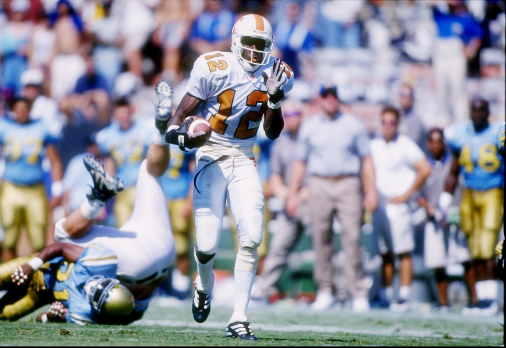 . 5. Marcus Nash, WR, Tennessee, 1998 First round, No. 30 overall: The slide from back-to-back Super Bowl championships began with a drafting slump. Nash had just four catches as a rookie; none in two games in his second season when he was traded to Miami. (Jed Jacobsohn/ Getty Images)