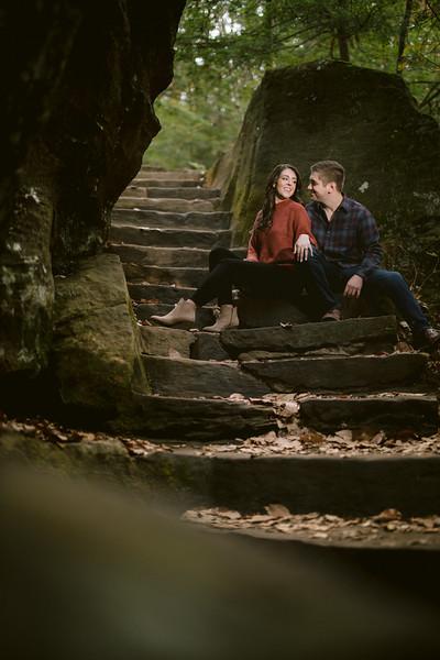 Hocking Hills Engagement - Rock House