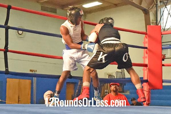 Bout 9 Jibreel Hawkins, Blue Gloves -vs- Kyhalil Osaze, Red Gloves, 120 lb Junior Div. Championship