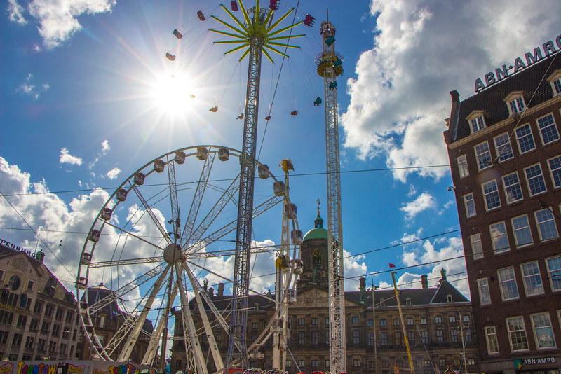 King's Day fair off Dam Square