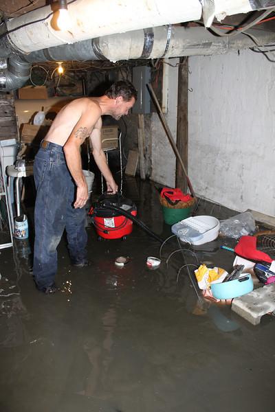 High Wabash Creek, Flooded Basement, Tamaqua (9-23-2011)