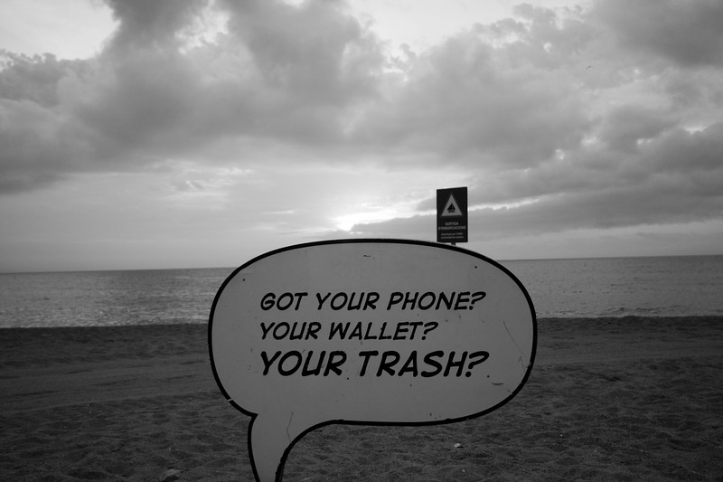 Got Your Phone? Your Wallet? Your Trash? How About This Sign?