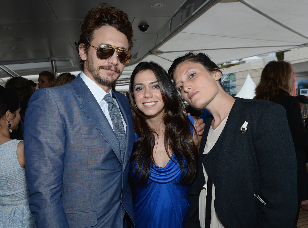. Actor James Franco (L) and guests attends The Art of Elysium, Rabbit Bandini and Leon Max event for Ahna O\'Reilly at Festival de Cannes during the 66th Annual Cannes Film Festival at  on May 19, 2013 in Cannes, France.  (Photo by Michael Buckner/Getty Images for Torch)