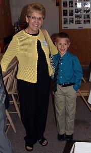 Karen Miller and new friend Tiegan Thompson - 25 Mar 2012