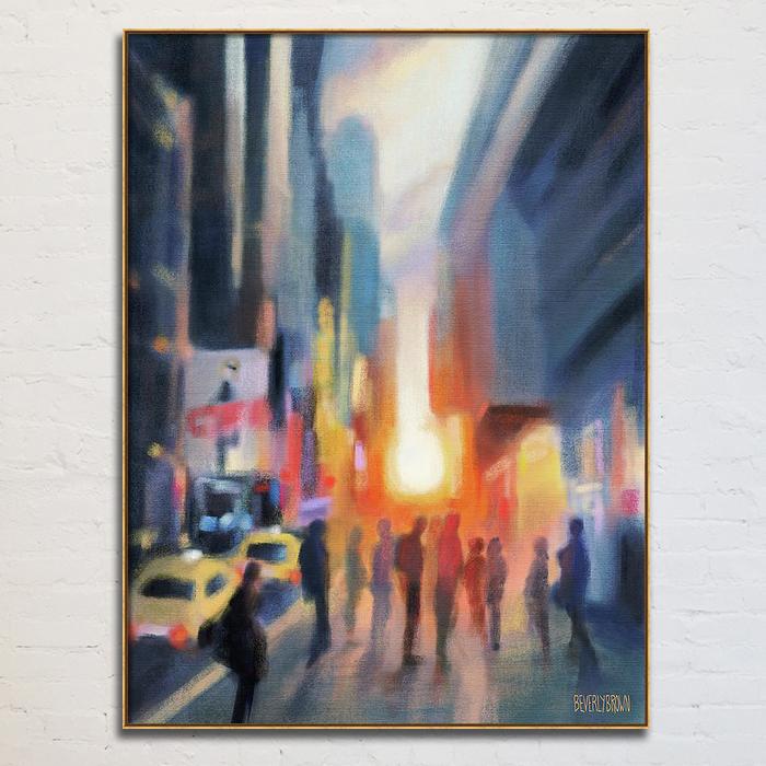 Midtown Manhattan Sunset New York City Art Print Canvas Painting - Beverly Brown - https://www.beverlybrown.com