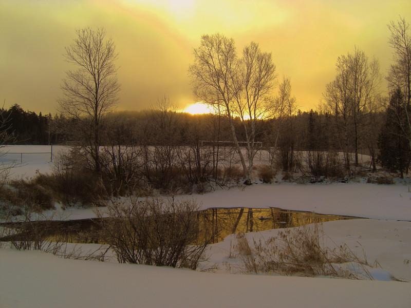 Saranac Lake High School Pond, Christmas morning, 2009.CIMG0841.JPG