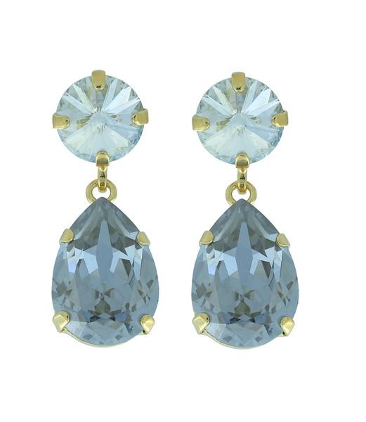 Classic Drop Earrings / Blue Shade