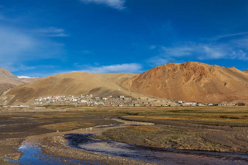 Korzok village at Himalayan lake Tso Moriri, Ladakh, India