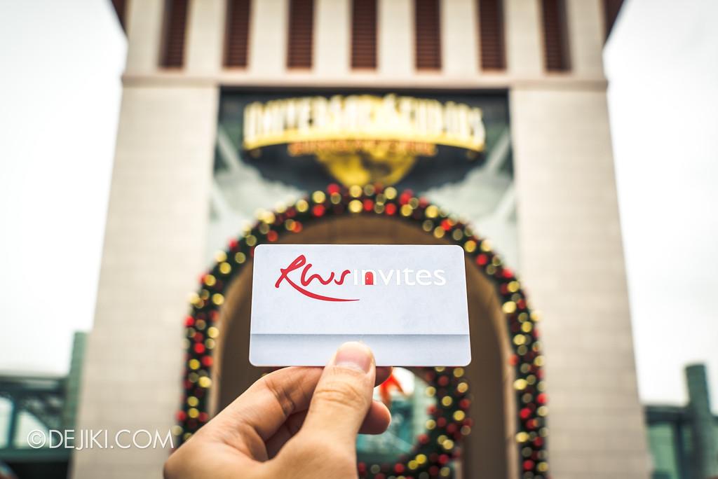 Resorts World Sentosa - RWS Invites membership card at USS park entrance