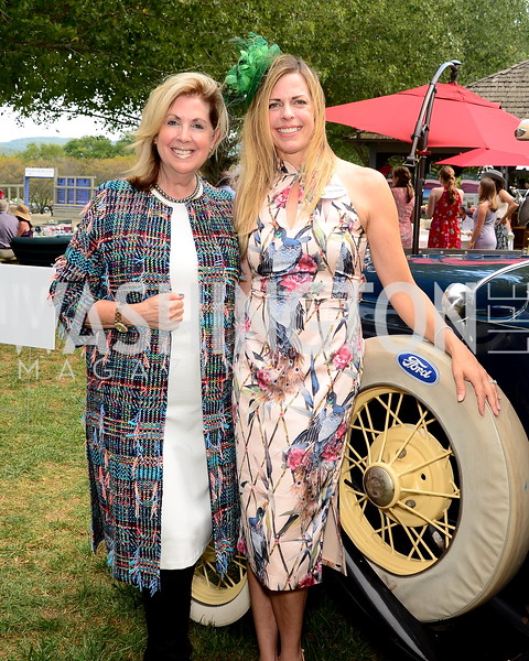 Sherrie Beckstead and Kelly Harbitter,  NVTRP Ride to Thrive Polo Classic, Great Meadow, Sep 28, 2019, photo by Nancy Milburn Kleck