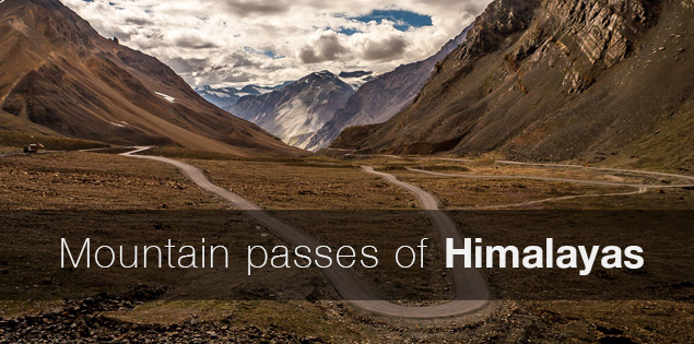 Mountain passes of the Himalayas