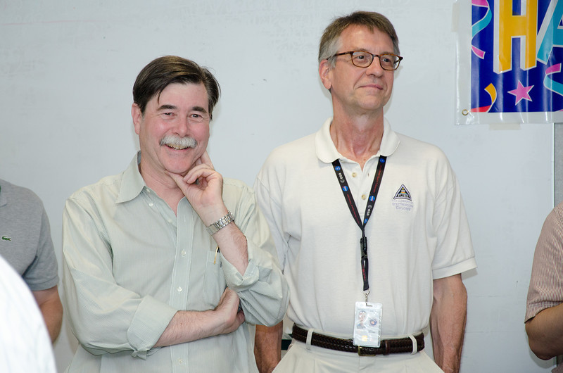 Chuck Bowers and George Sonneborn -- Bruce Woodgate retirement party, NASA/GSFC, June 2013