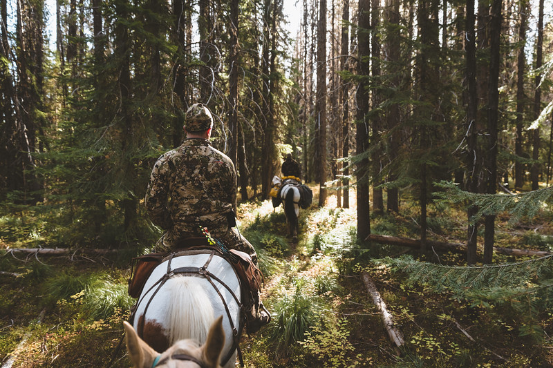 Austin Heinrich riding out on a elk hunt in central Idaho. September 2018