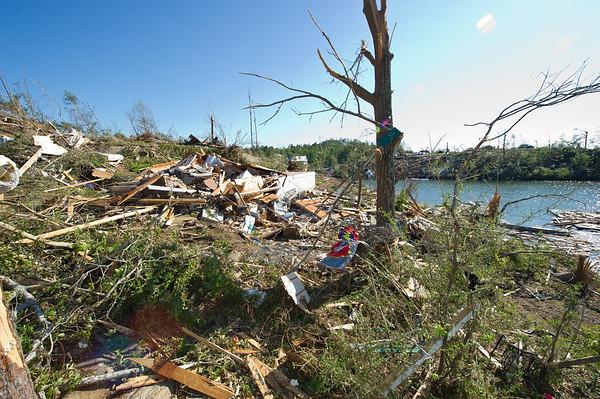 Tornado Damage, photographed on foot