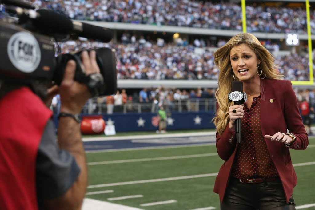 ". <p><b> Famed sideline reporter Erin Andrews revealed that she�s the new co-host of the mega-popular � </b> <p> A. �Dancing with the Stars� <p> B. �American Idol� <p> C. �America�s Funniest Hotel Peephole Videos� <p><b><a href=\'http://www.cbsnews.com/news/erin-andrews-excited-to-co-host-dancing-with-the-stars/\' target=""_blank\"">HUH?</a></b> <p>    (Ronald Martinez/Getty Images)"