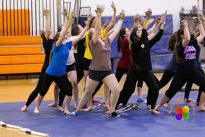 Normal Community Images winter guard rehearsal 03/20/2014