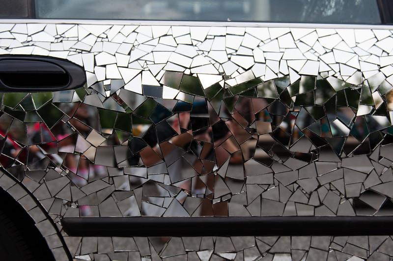 Mirrored Door Reflection