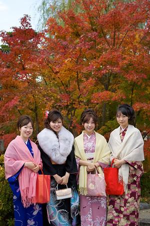 Kimono Group in Autumn