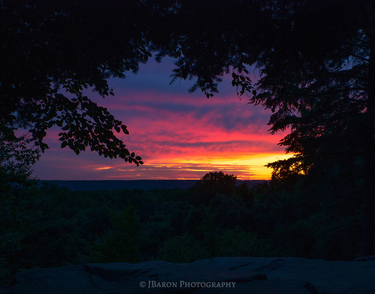 The Ledges Overlook at Sunset