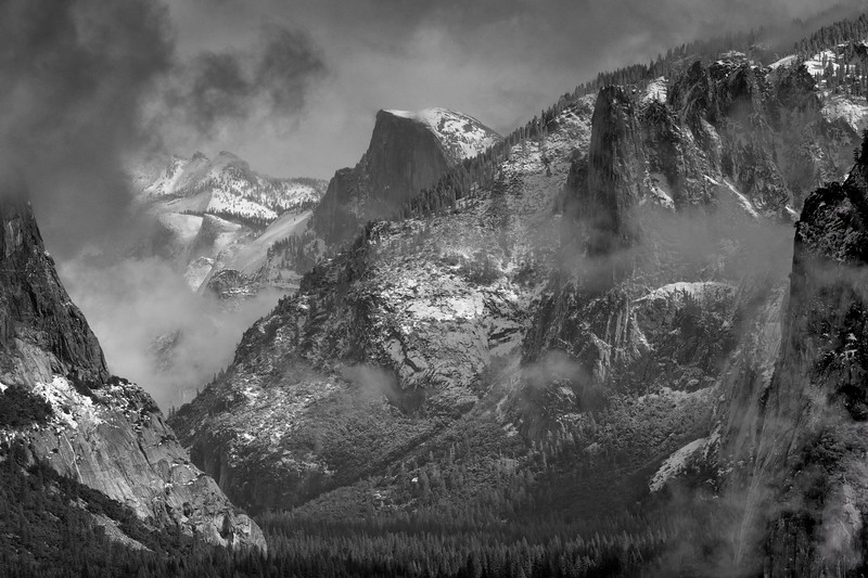 Half Dome in the Clouds
