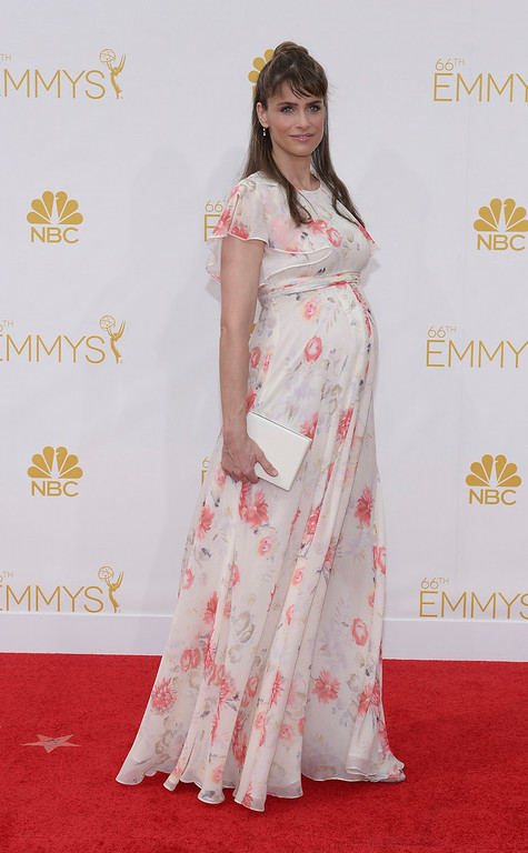 . Amanda Peet on the red carpet at the 66th Primetime Emmy Awards show at the Nokia Theatre in Los Angeles, California on Monday August 25, 2014. (Photo by John McCoy / Los Angeles Daily News)