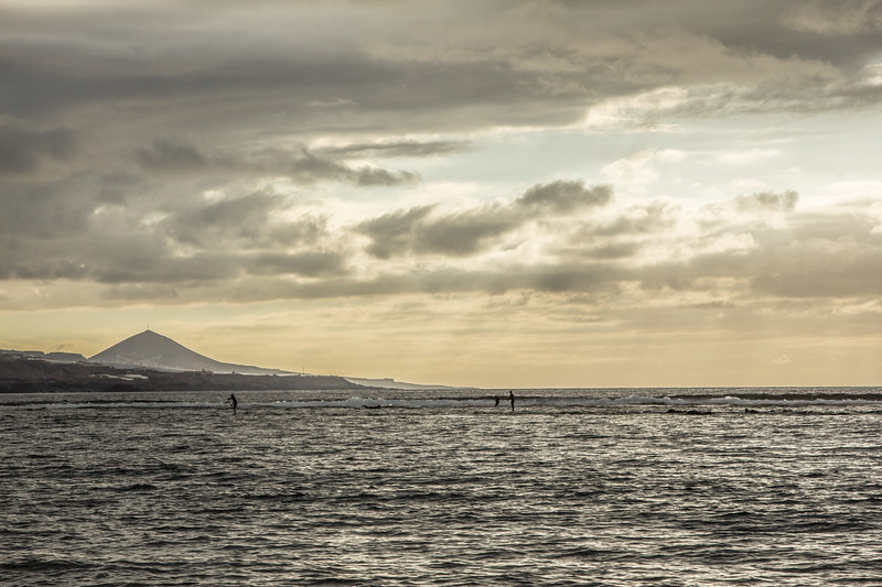 Surfboarding Las Canteras
