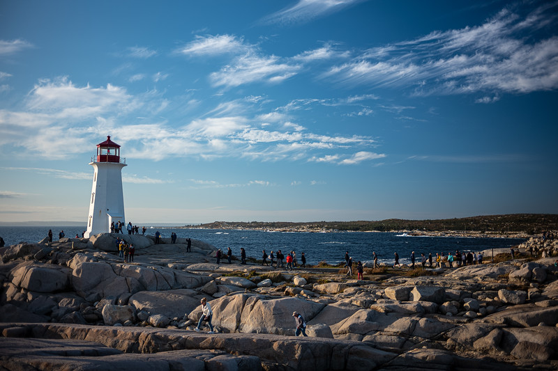 throngs of tourists Peggy's Point Lighthouse.jpg