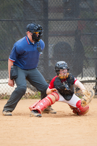 Christopher catching in the bottom of the 6th inning. The Nationals started out their season with a 4-1 win over the Pirates. 2012 Arlington Little League Baseball, Majors Division. Nationals vs Pirates (14 Apr 2012) (Image taken by Patrick R. Kane on 14 Apr 2012 with Canon EOS-1D Mark III at ISO 400, f2.8, 1/1000 sec and 200mm)