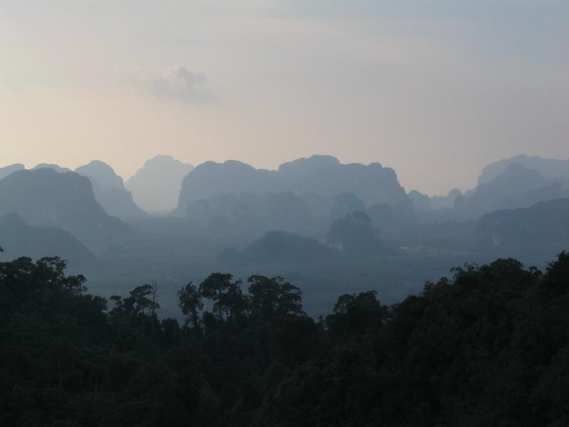 Krabi province's inland limestone mountains