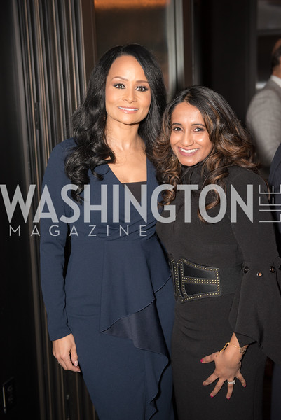 Katrina Pierson, Merilyn Carson, AIPAC Dinner, Advanced Security Training Institute, Hosted by Martha Boneta, March 24, 2019, Photo by Ben Droz.