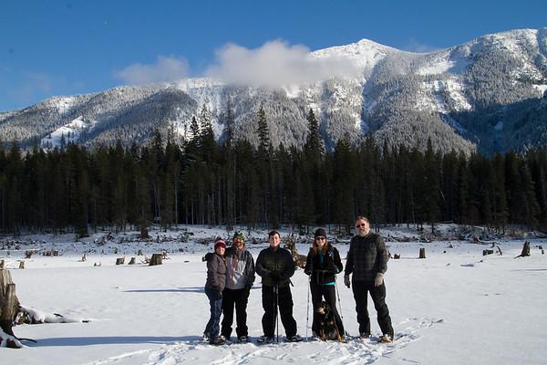 2017-12-23 Snowshoeing at Bumping Lake - Day 1