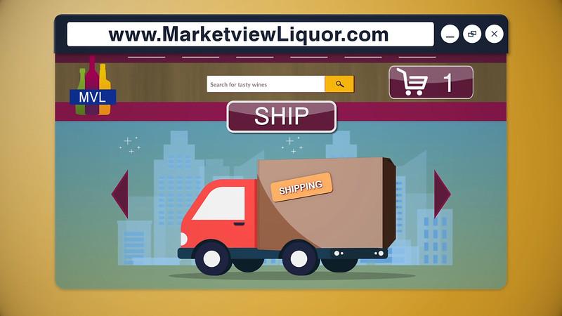 Marketview Liquor: Website Promo Services Provided:  Motion Graphics, Editing