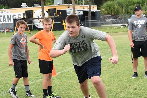 Mustang Youth Football Camp 6/29/2016